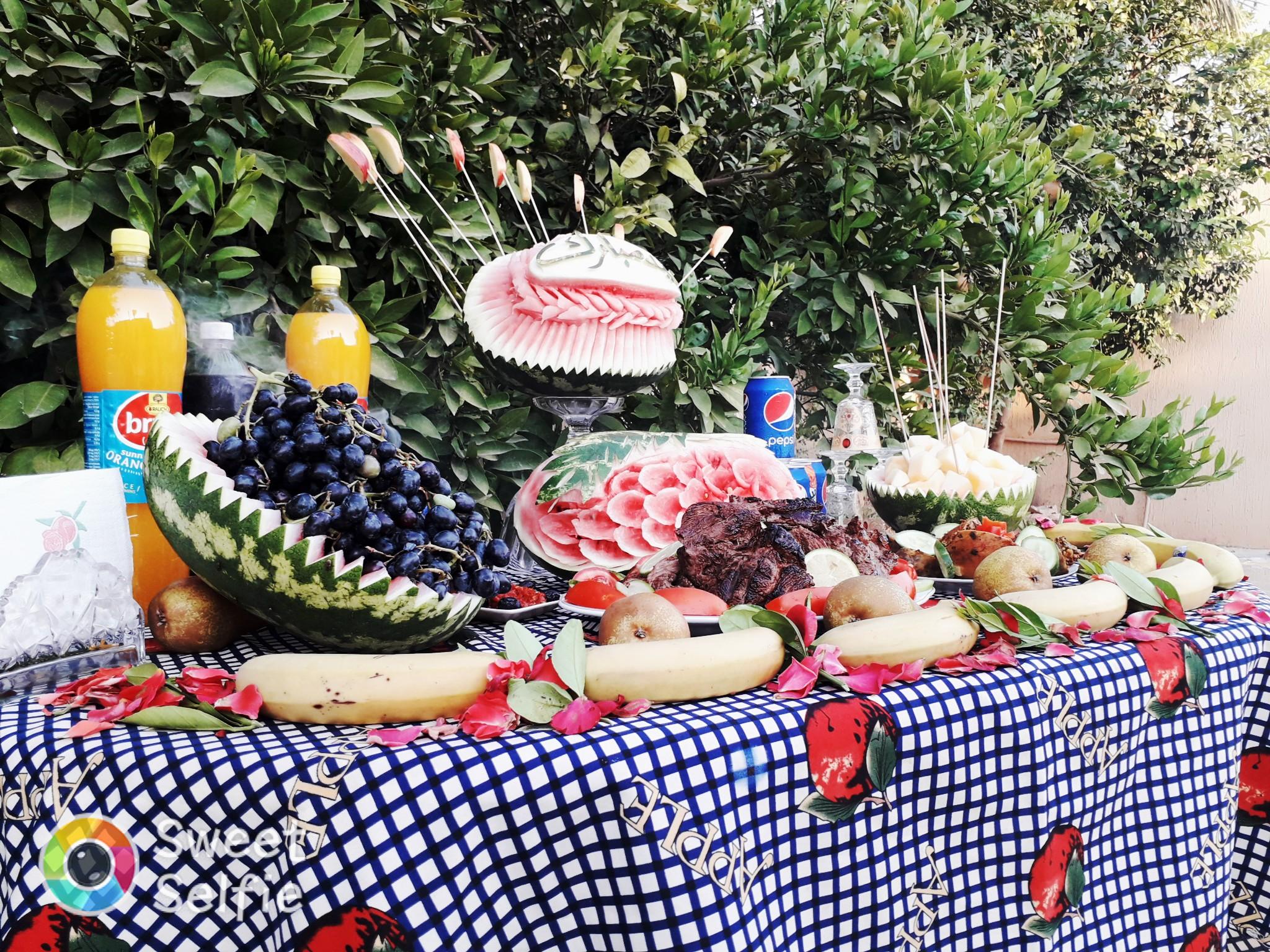 أجواء العيد العائلة المزرعة